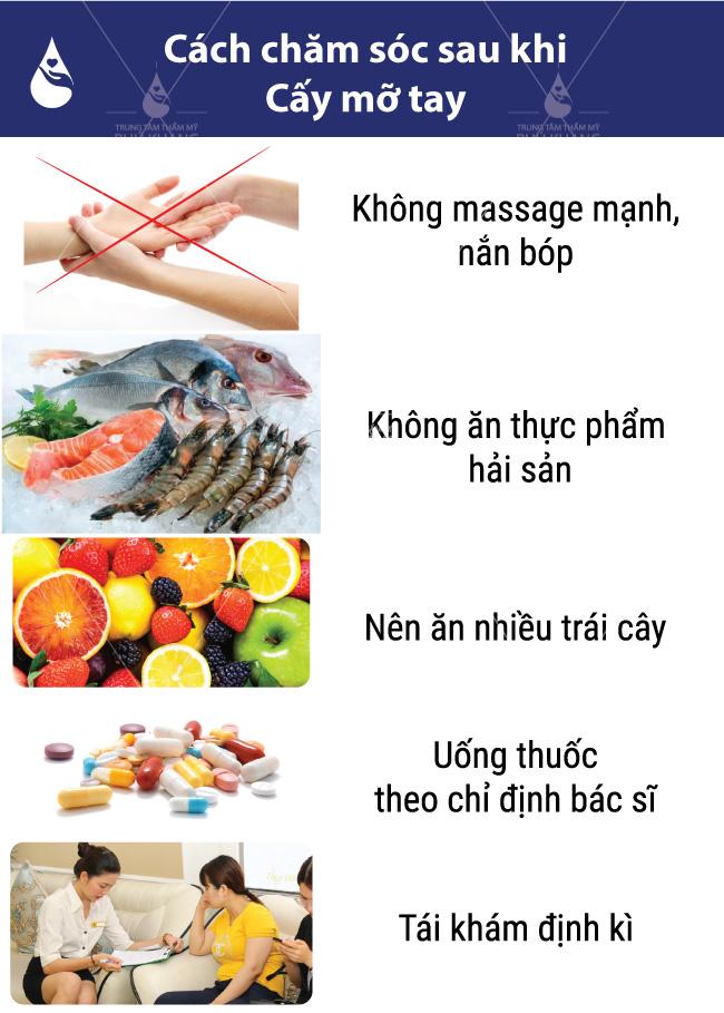 chăm sóc sau khi cấy mỡ bàn tay