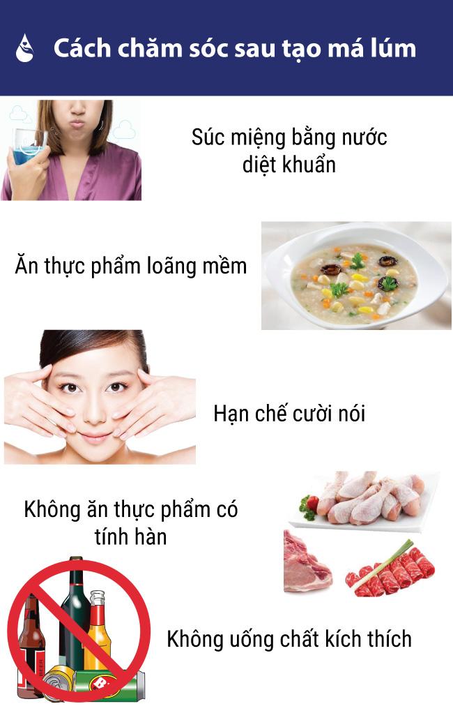 Cách chăm sóc sau khi làm má lúm