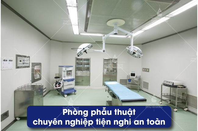 Phòng phẫu thuật hiện đại và an toàn