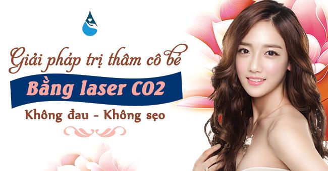 giải pháp trị thâm cô bé bằng laser CO2