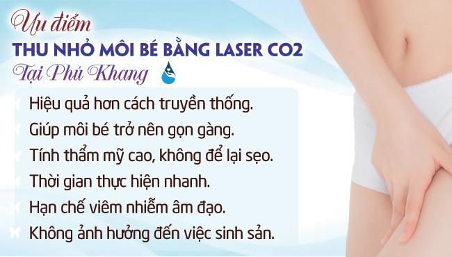 Ưu điểm thu nhỏ môi bé bằng laser tại Phú Khang