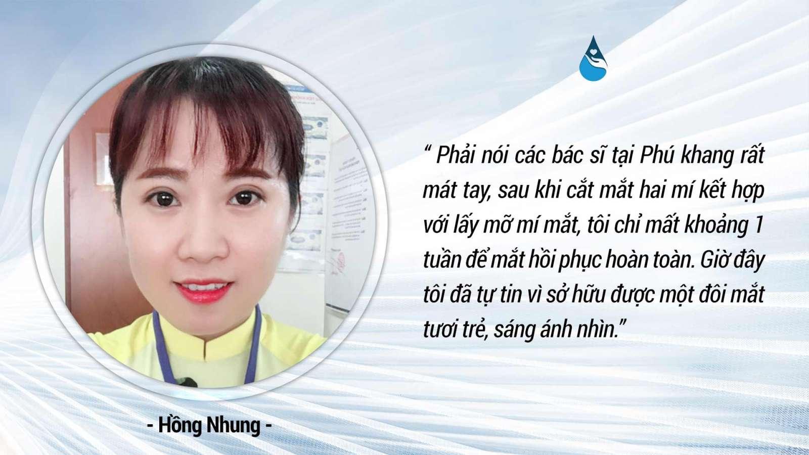 Phản hồi của khách hàng sau khi lấy mỡ bọng mắt tại TMV Phú Khang