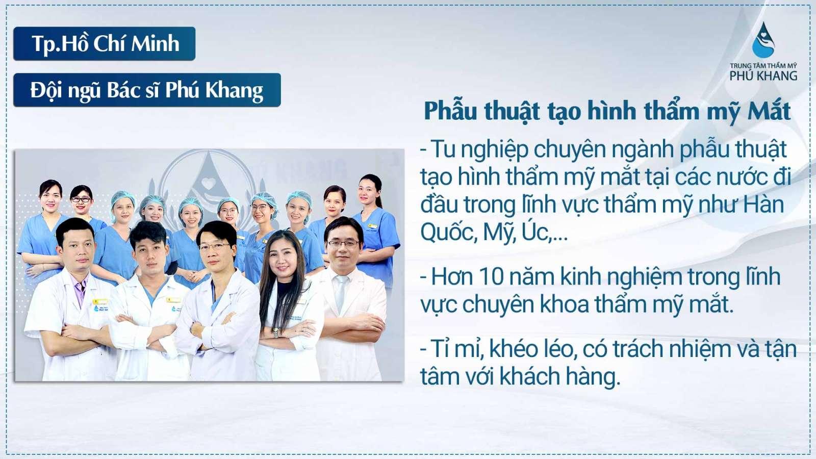 Đội ngũ bác sĩ thực hiện giàu kinh nghiệm