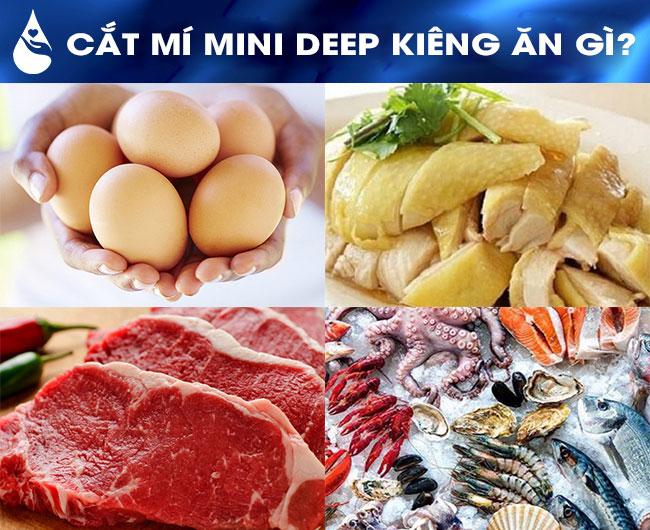 cắt mí mini deep kiêng ăn gì