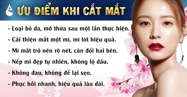 Ưu điểm khi Cắt mí mắt có đau không tại Phú Khang